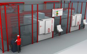 Die Priorisierung der Bearbeitungsjobs erfolgt am Terminal der Automationsanlage